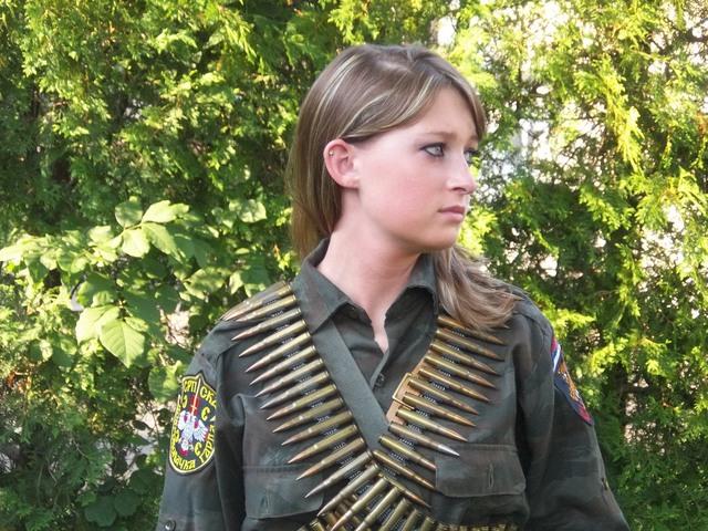 Arkan's Tigers Female Combatant, Bosnia 1992