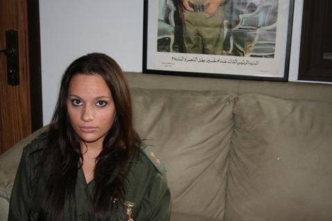 Saddam's Iraq: An Iraqi Female Soldier, Baghdad, 1991