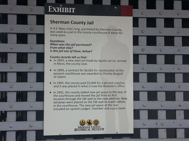 Old Sherman County Oregon jail description