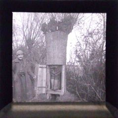 picture of a original WWI glass plate. Belgian sector