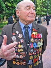Telling His Story On Victory Day