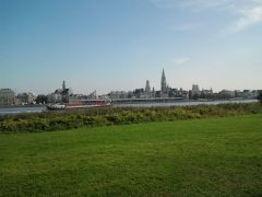 Antwerp from the left bank side, took with cellphone!