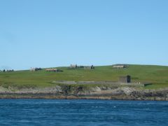 cemetery and houses Isle of Stroma