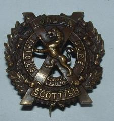 LONDON SCOTTISH Bz 2nd Bn PAGGAREE BADGE1917-18