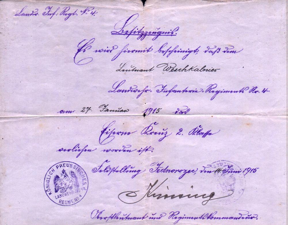 LuWesz-EisernesKreuz - Unterschrift von OTL wer.JPG