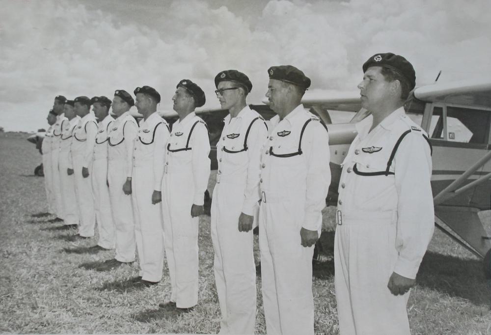 NRPR Wings Parade - Lusaka 1960 - Jack Uys, Bennett, Jay, Bill Colton, Norman Lowe, Roberts, Rust.jpg