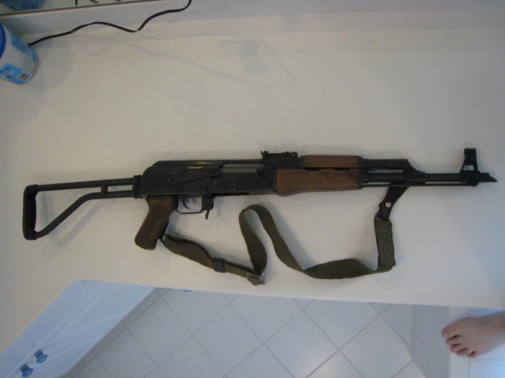 Norinco Type 56 (AK-47) Galil ser. no. CS - 05998, r. side stock extended.JPG