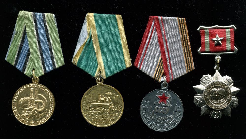 Ilya_Vasilievich_Kochergan,_medals.jpg