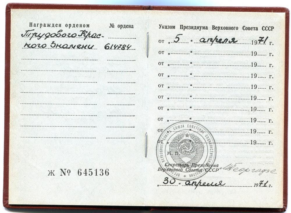 Ivan Antonovich Pravda, Order Book 2.jpg