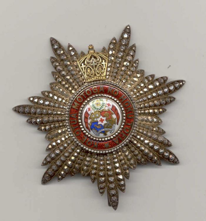 Tonga Order of the Crown 2 nd class breast star Type 1.jpg