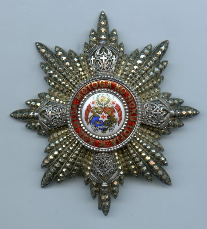 Tonga Order of Georges the 1st 1st Class breast star obverse.jpg