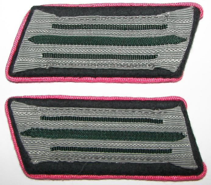 Heer Admin NCO Collar Patches Pink Clothing Inspection Offic.jpg