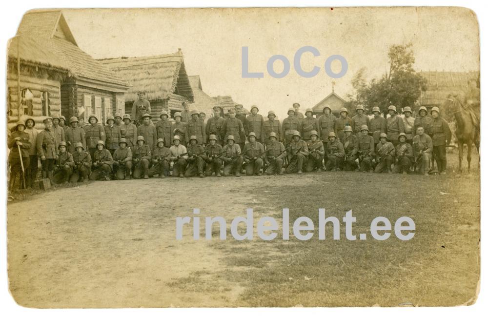 VS-aegne ülesvõte Kuperjanovi partisanidest.Kuperjanovlased Ingerimaal, 1. roodu, ülem alamleitnant Rudolf Tarik.jpg