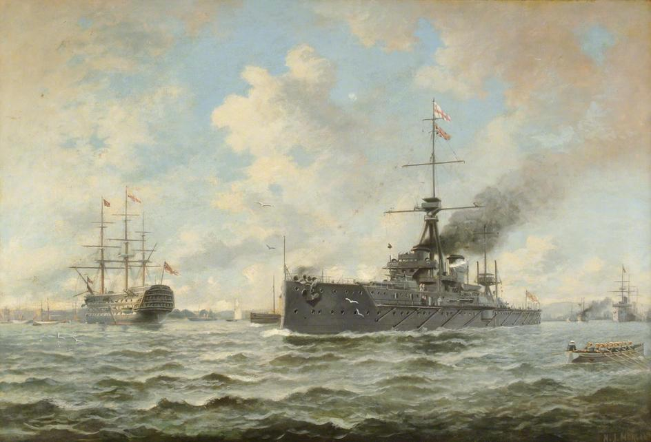 HMS_Dreadnought_and_Victory_by_Henry_J_Morgan.jpg