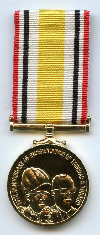 Trinidad & Tobago 50th Anniversary Independence Medal 2012 obverse.jpg