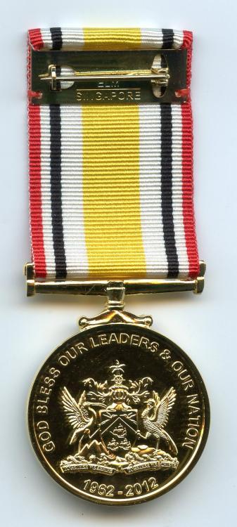 Trinidad & Tobago 50th Anniversary Independence Medal 2012 reverse.jpg
