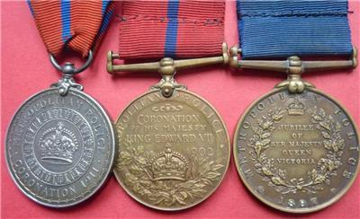 Metropolitan Police Coronation Medal  Trio photo 2.jpg
