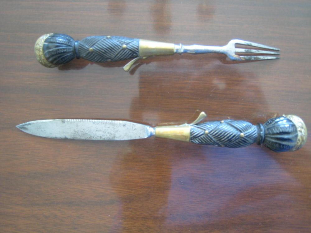 Seaforth (78th Highlanders) Dirk, 1991 - 1914  knife, fork 2.JPG