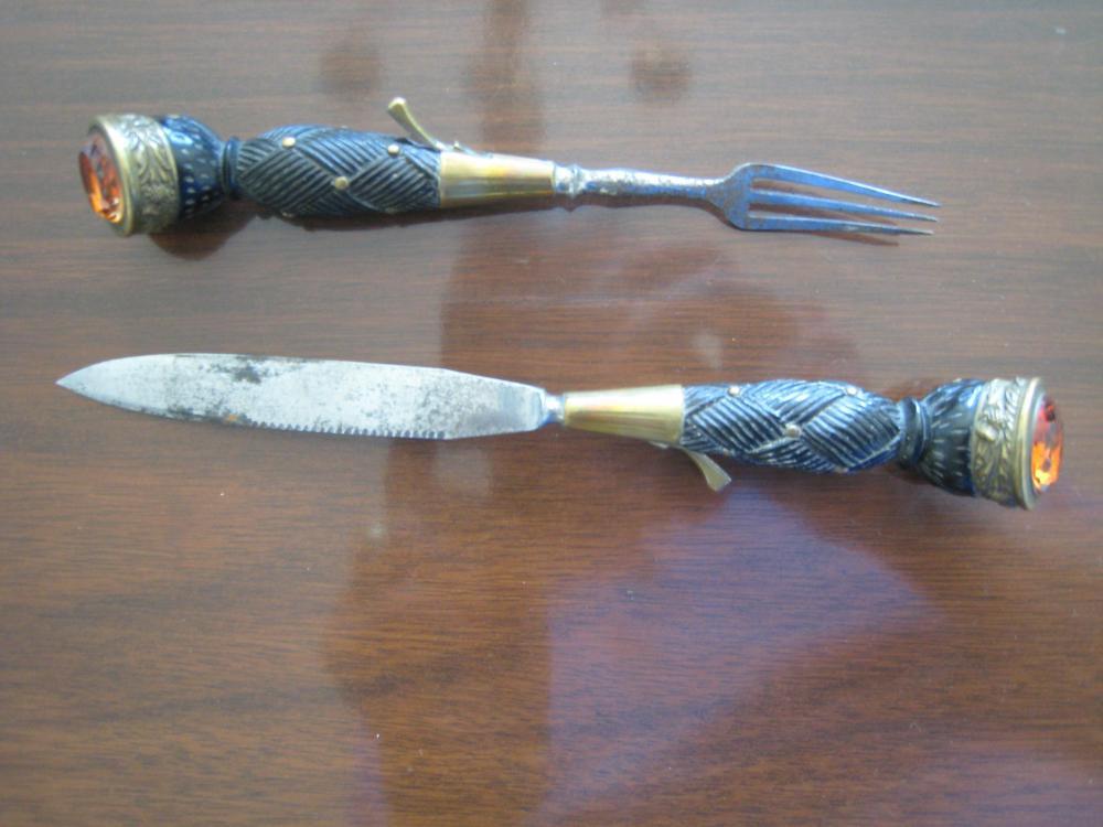 Seaforth (78th Highlanders) Dirk, 1991 - 1914  knife, fork.JPG