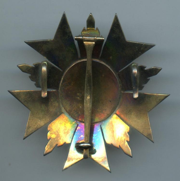 Ecuador Order of San Lorenzo 1st Class breast star reverse.jpg