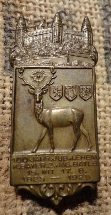 100 Jähriges Jubiläum des ehemaligen Königlich Bayrischen 2. Jägerbattalions 1825-1925.JPG