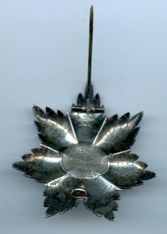 Madagascar Order of Radama Grand Officer breast star reverse 1.jpg