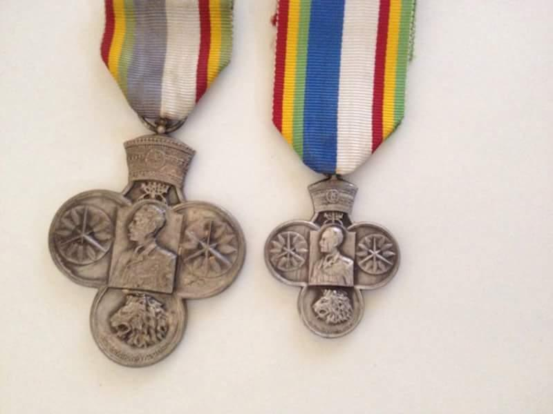 Korean War medals, Ethiopia full size and 2.3rds.jpg