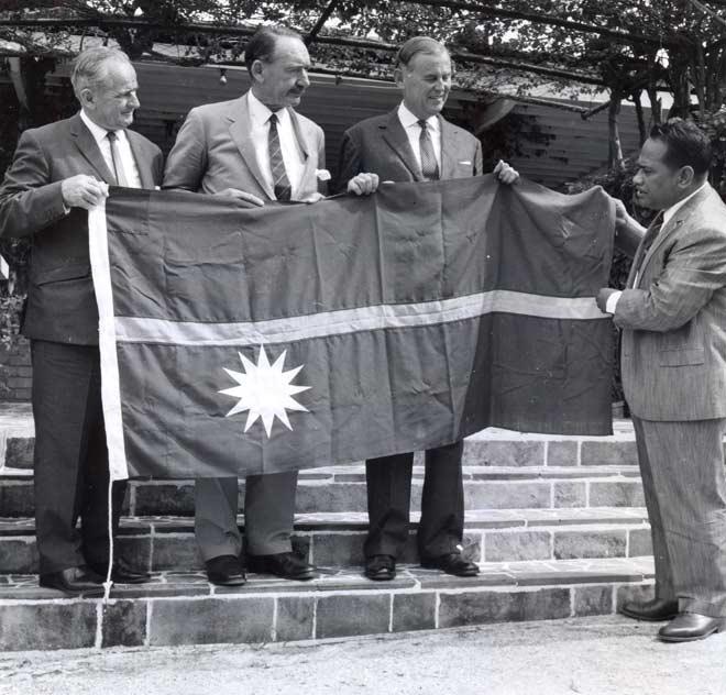 Nauru Displaying Nauru Flag 1968.jpg