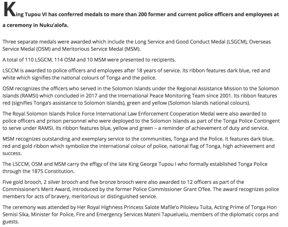 Tonga Details of Medal of Police awarded on 7 June 2019.png