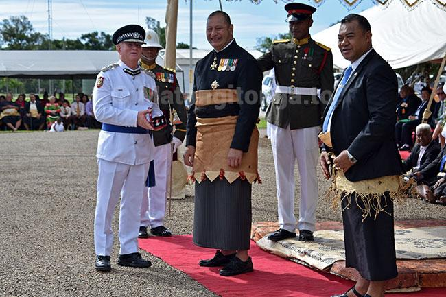 Tonga Police Commissioner Stephen Caldwell with his medal on 7 June 2019.jpg