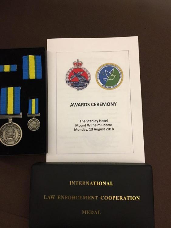 Solomon Isl Royal Solomon  Islands Police Force International Law Enforcement Cooperation Medal.jpg