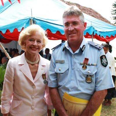 Vanuatu Medal of National Merit & Medal of 30th Anniversary of Indepedence to Governor General of Australia.jpg