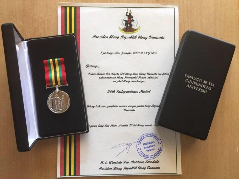 Vanuatu 30 Years of Independence Medal.jpg