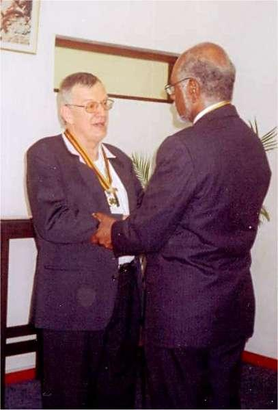 Vanuatu Badge of Honour to Mgr Calvet Bishop of Noumea 2007 a.jpg