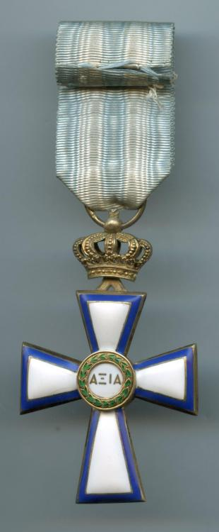 Greece Order Cross of Valour 1st Class 1913 reverse.jpg