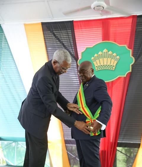 Guyana Order of Excellence to Ghana President 11 June 2019.jpg