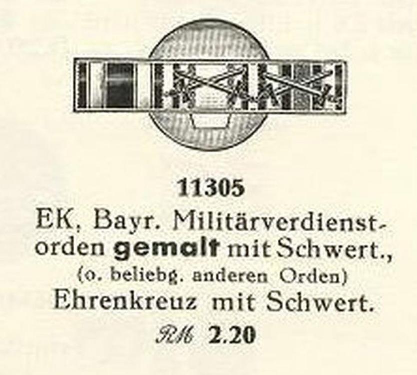 11305 EK. Bayr Militärverdienstorden , Ehrenkreuz mit Schcert 10001.jpg