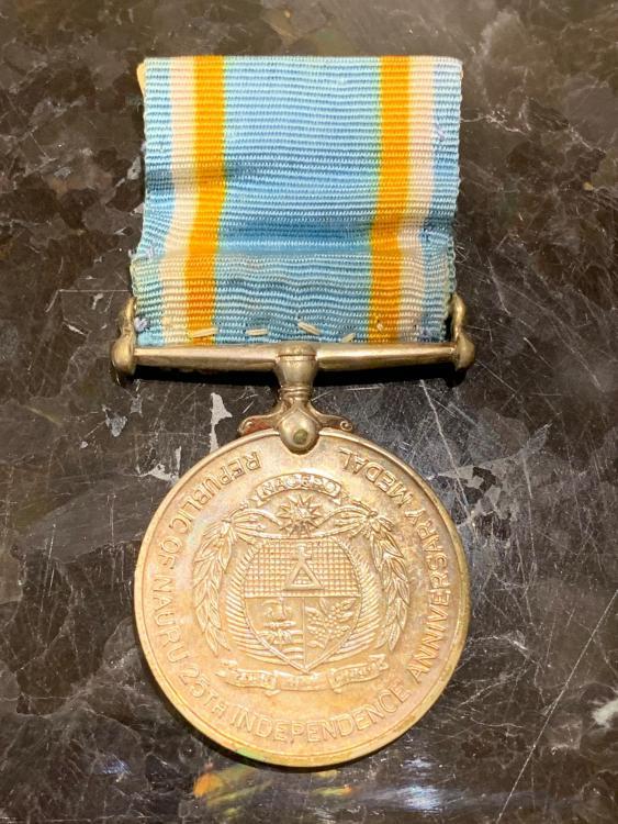Nauru Medal for 25 Years Independence 1993 obverse.jpeg