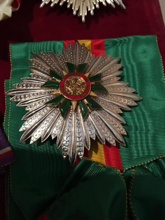Togo Order of Merit Grand Cross breast star on sash.jpg