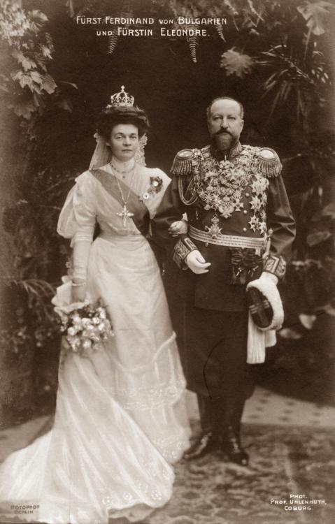 Zar Ferdinand von Bulgarien und dessen Ehefrau Eleonore, geb. Prinzessin Reuß zu Köstritz.jpg