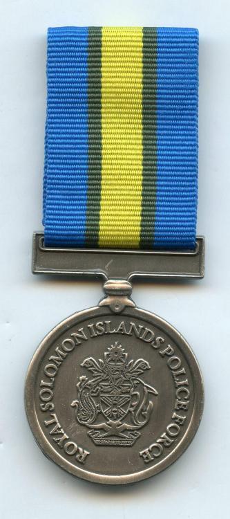 Solomon Isl Royal Solomon Islands Police Force International Law Enforcement Cooperation Medal obverse.jpg