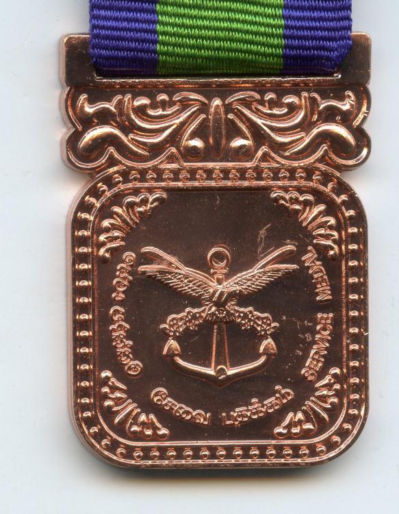 Sri Lanka Armed Forces New Service Medal obverse close up.jpg