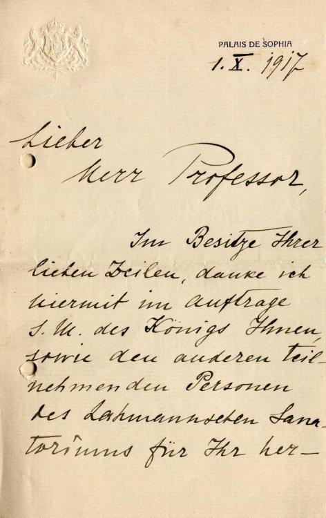 Schreiben an Paira von Flügeladjutant des Zaren Ferdinand Oberst Nicolas Kurtokliew 1.jpg