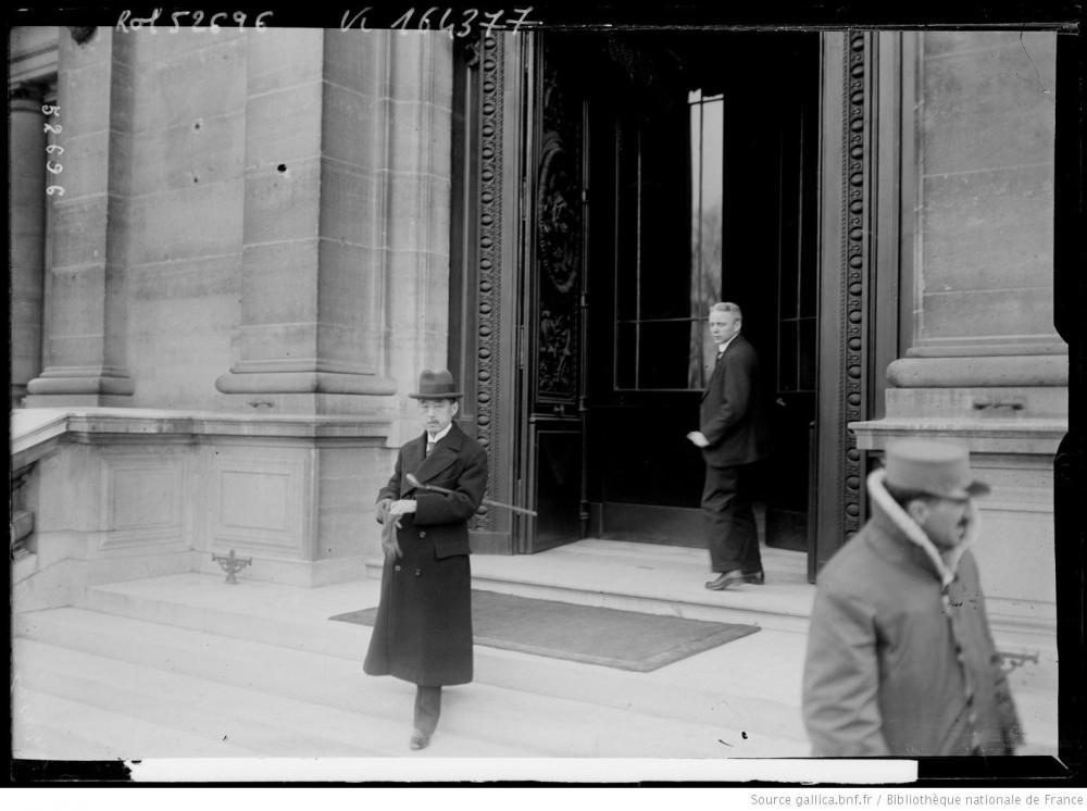 13 Conférence de la Paix, le baron Matsui quitte le quai d'Orsay.JPEG
