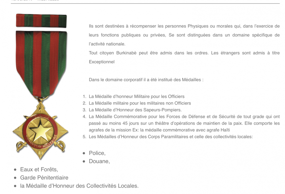 Burkina Faso List of Medals.png