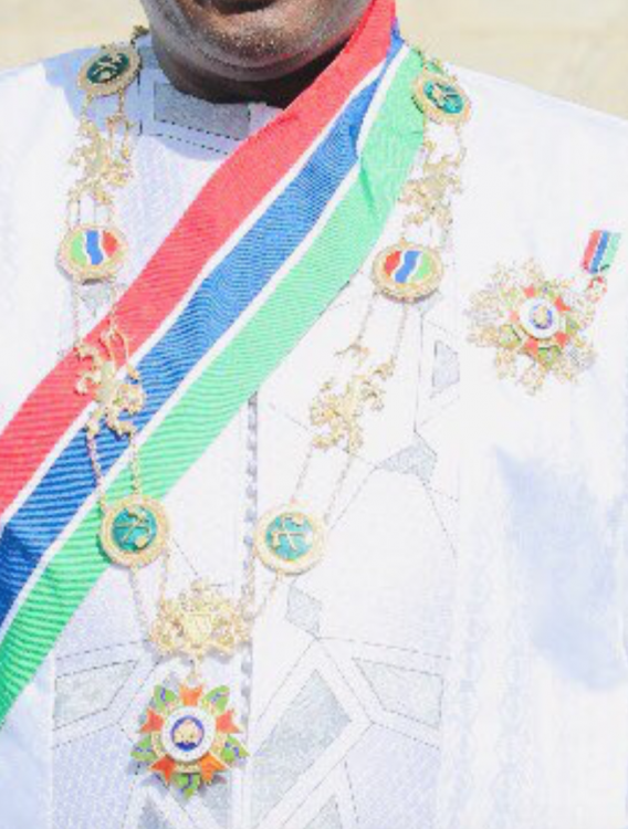 Gambia Order Grand Master of the Republic GMRG from President Adama Barrow.png
