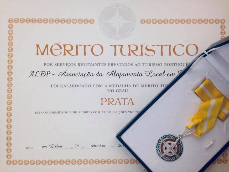 Portugal Medal Merito Turistico 2018 Category Silver to ALEP Association.jpg