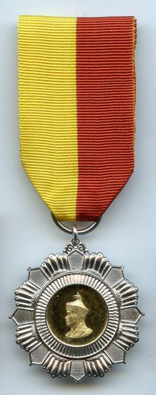 Bhutan Silver Jubilee Medal 1999 King Jigme Singye Wangchuk obverse.jpg