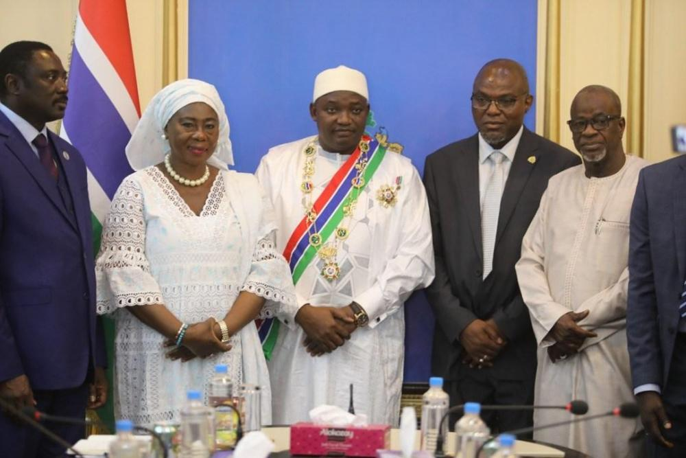 Gambia President Barrow with Gambia Highest Order GMRG.jpg