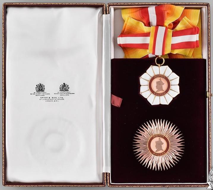 Bhutan Royal Order of Bhuthan cased set.jpg